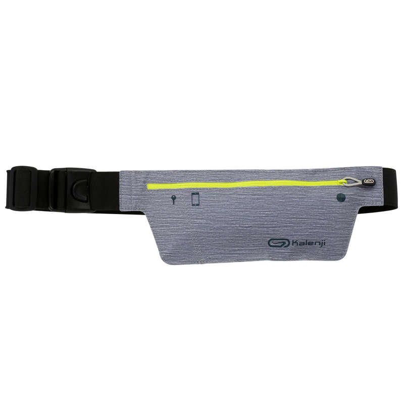 JOGGING ACCESSORIES TO CARRY Running - SMARTPHONE WAISTBAND - GREY KALENJI - Running Accessories