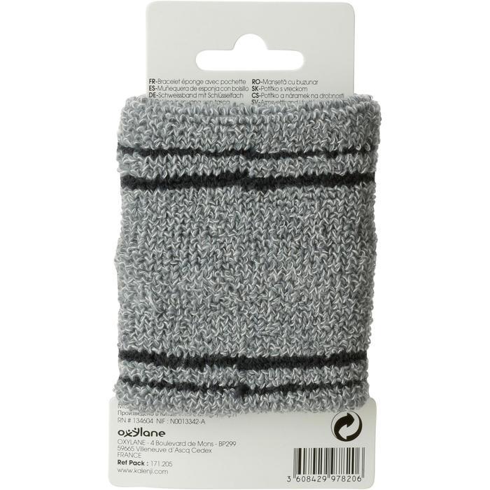 Schweißband mit Schlüsselfach grau