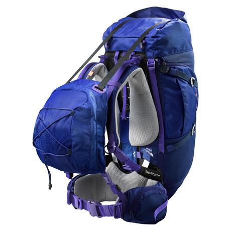 sac dos trekking symbium femme 50 10 litres bleu fonc quechua. Black Bedroom Furniture Sets. Home Design Ideas