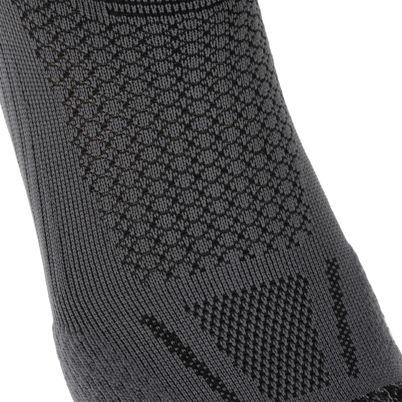 KIPRUN THICK MID-HEIGHT RUNNING SOCKS - BLACK