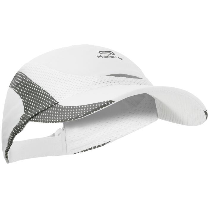 Pet voor hardlopen wit/grijs