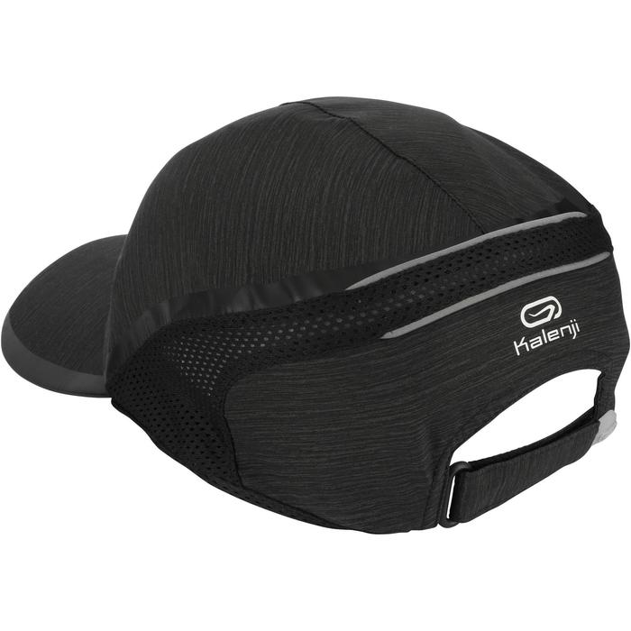 Lauf-Cap Schirmmütze Erwachsene schwarz