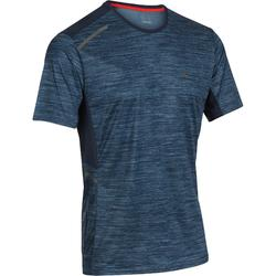 Camiseta Manga Corta Running Kalenji Run DRY+ Hombre Estampado Azul