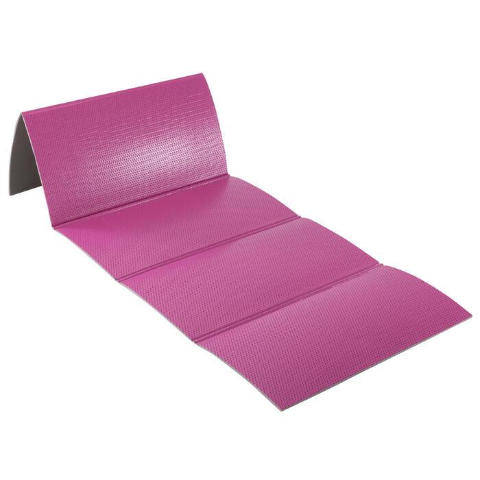 Gymnastikmatte 500 abriebfest faltbar Pilates Toning Größe M 8 mm rosa
