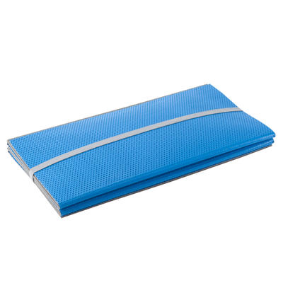 TAPIS SOL 500 RESISTANT CHAUSSURES & PLIABLES PILATES TONING TAILLE M 8mm BLEU