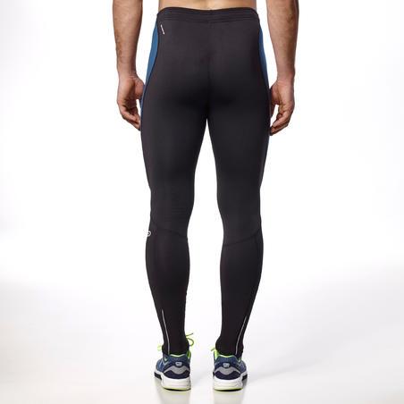 Elioplay Men's Running Tights - Black Blue Grey