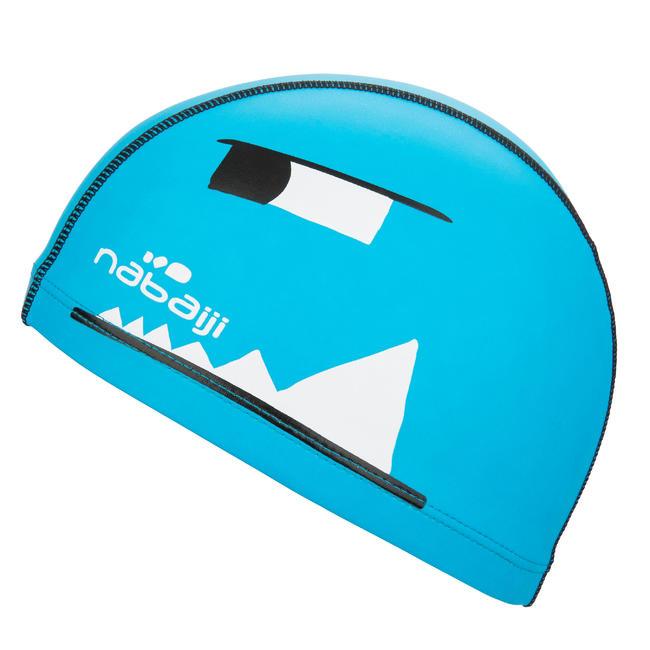 Swim Cap Silicone Mesh Size small - Printed Blue