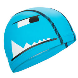 Swim Cap Silicone Mesh Size small - Printed Blue