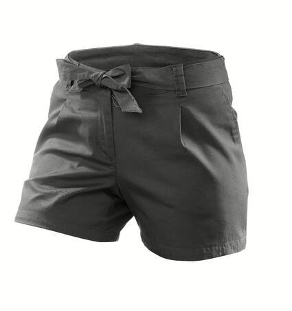 Arpenaz 100 Women's Nature Hiking Shorts - Abu-abu