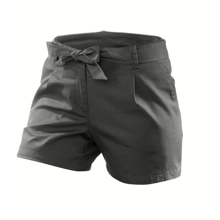 Wandershorts Naturwandern NH500 Damen grau/khaki