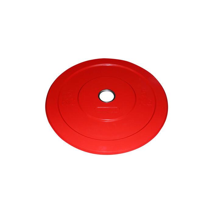DISQUE BUMPER 5KG ROUGE - 1071265