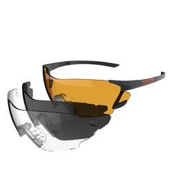 Beschermbril voor kleiduifschieten 3 glazen