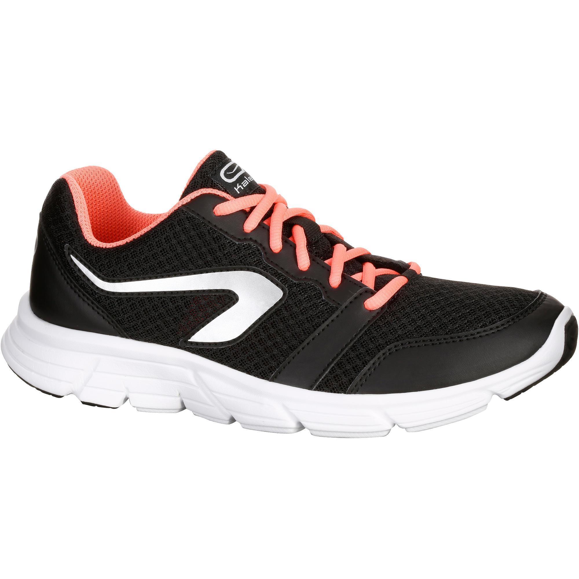 Kalenji Hardloopschoenen voor dames Run One Plus zwart/koraal