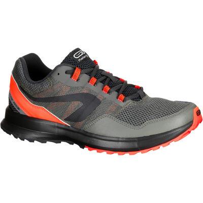 da9ca458ccb RUN ACTIVE MEN S GRIP RUNNING SHOE - KHAKI RED - Decathlon Sports ...