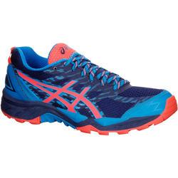 Trailschoenen dames Asics Gel Fuji Trabuco 5 blauw roze