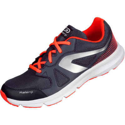 Ekiden Active Children's Running Lace-Up Shoes - Grey/Orange