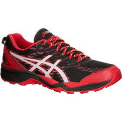 Loopschoenen traillopen heren Asics Gel Fuji Trabuco 5 zwart rood