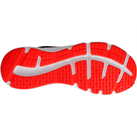 Ekiden Active Children's Running Lace-Up Shoes - Grey/Orange