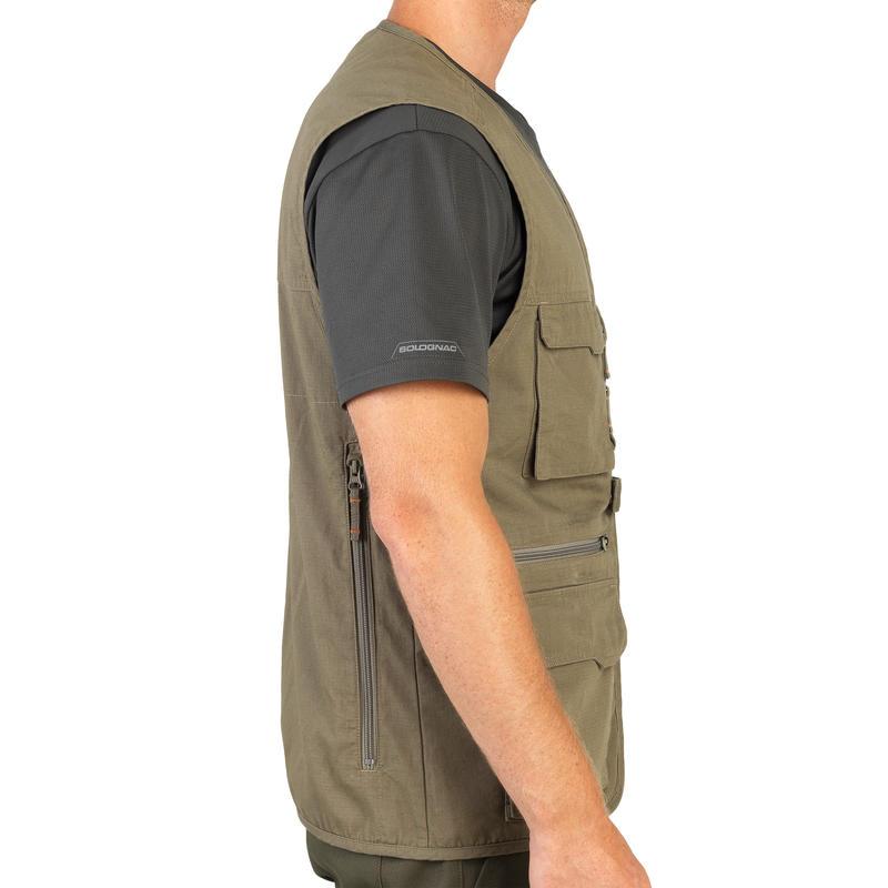 500 Lightweight Durable Hunting Waistcoat - Green