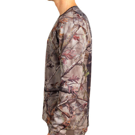 T-Shirt BERBURU LENGAN PANJANG MELEPAS UAP ACTIKAM 100 COKELAT CAMO