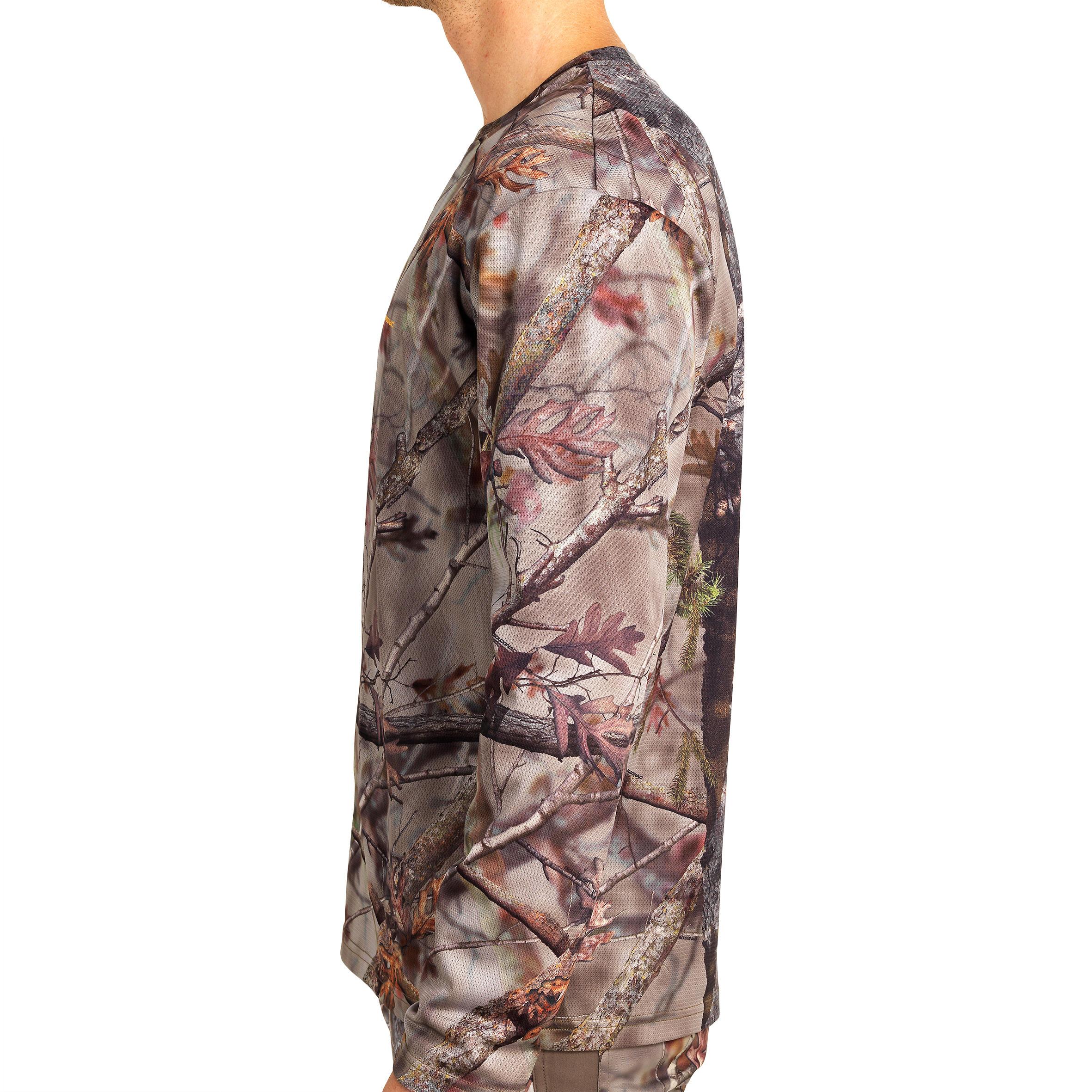 Outdoor Chasse T-shirt Transparent à séchage rapide Les dessus respiration Active Bionic Camo