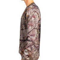 T-SHIRT CHASSE RESPIRANT 100 MANCHES LONGUES CAMOUFLAGE FORET