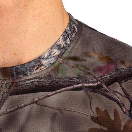 Hunting Breathable Short Sleeve T-Shirt 100 - Woodland Camouflage