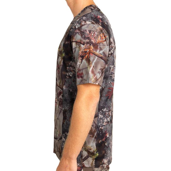 T-SHIRT CHASSE RESPIRANT 100 MANCHES COURTES CAMOUFLAGE FORET