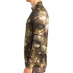 Jagd T-Shirt Langarm Akticam 500 Light atmungsaktiv und leise furtiv