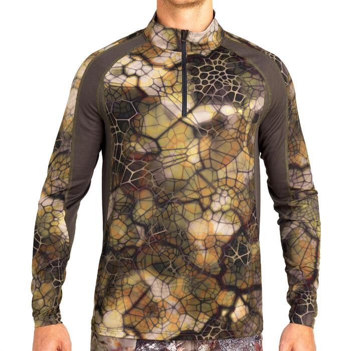 Camiseta Caza Solognac Bgs 500 Silenciosa Transpirable Camuflaje Sigilo