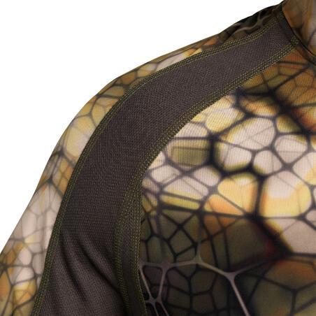"""Kluss, elpojošs garpiedurkņu medību T krekls """"500"""", nemanāma kamuflāža"""