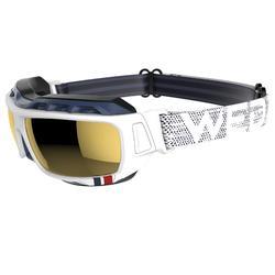 Skibril Skiing 900 volwassenen, zwart en blauw, verwisselbare lenzen cat. 4+2 - 1072678