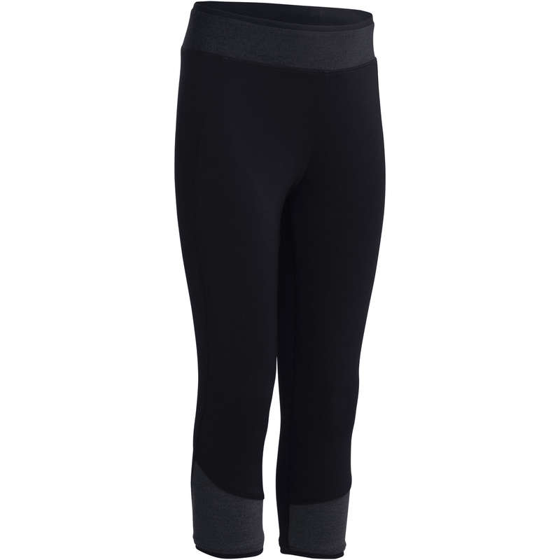 GIRL EDUCATIONAL GYM APPAREL - S500 Gym Cropped Bottoms DOMYOS