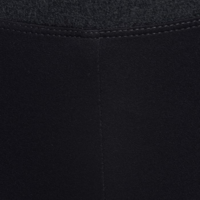 Gym kuitbroek S500 voor meisjes zwart grijs