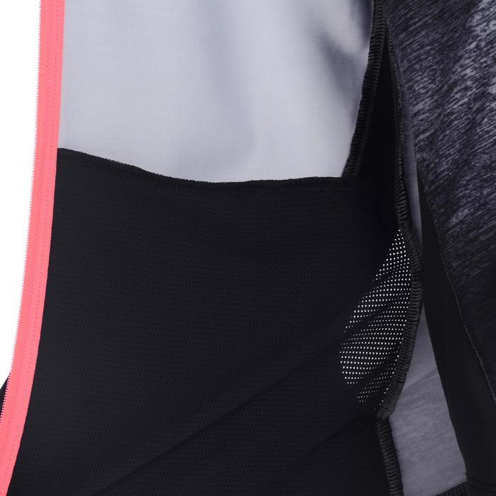 Meisjes hoodie Energy met rits voor gym zwart/roze
