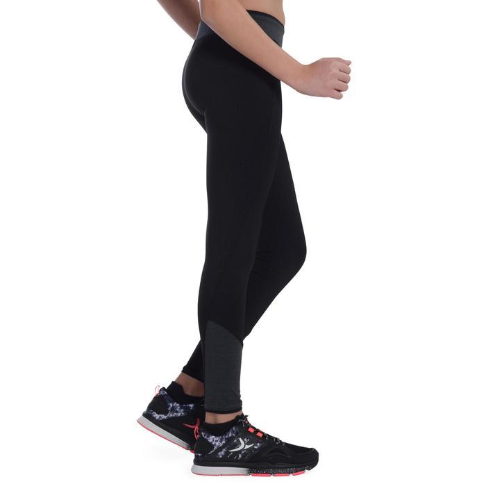 Leggings S500 Gym Kinder schwarz/grau