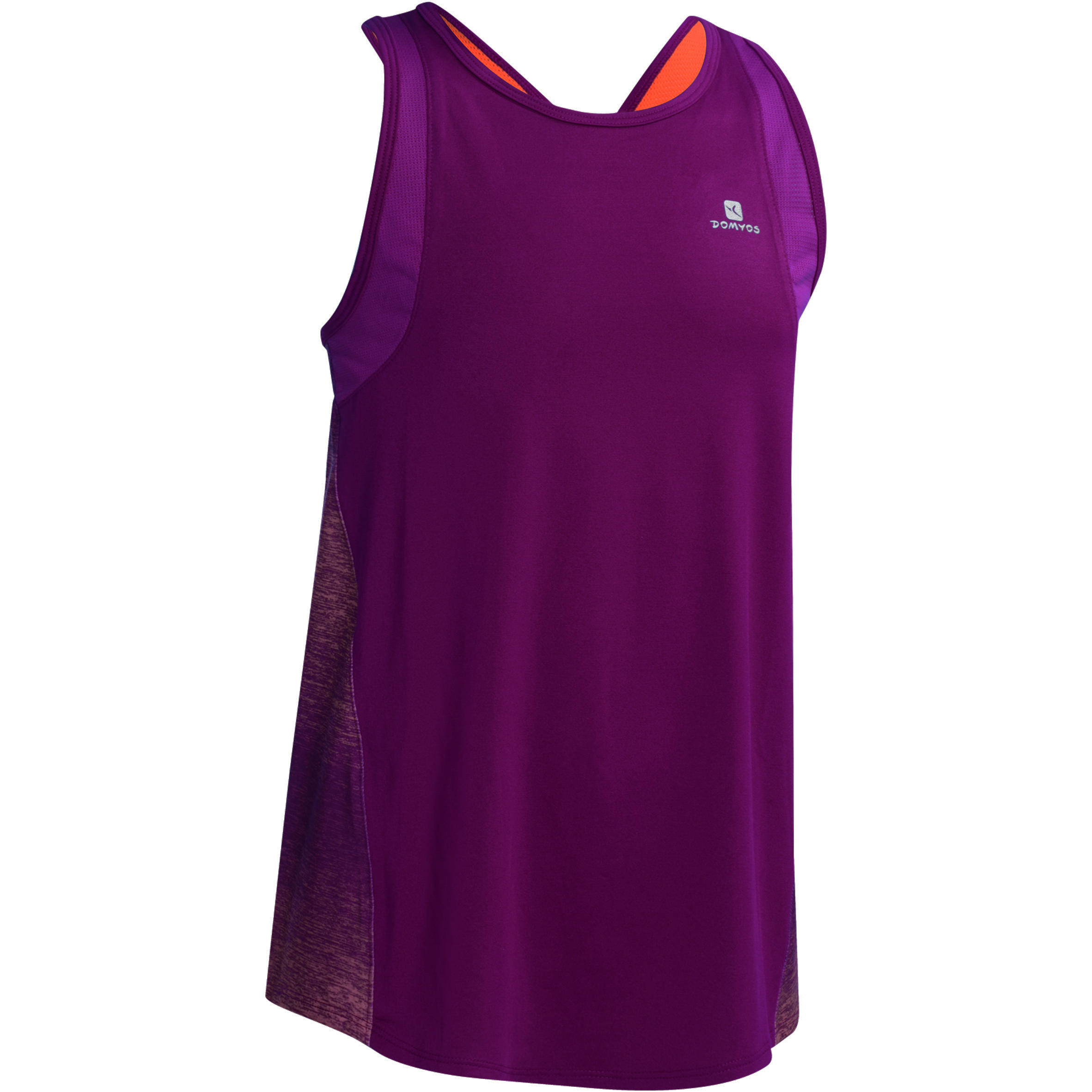 Débardeur Gym Energy fille violet orange