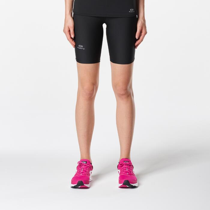 Korte loopbroek Run Dry voor dames zwart - 1072960
