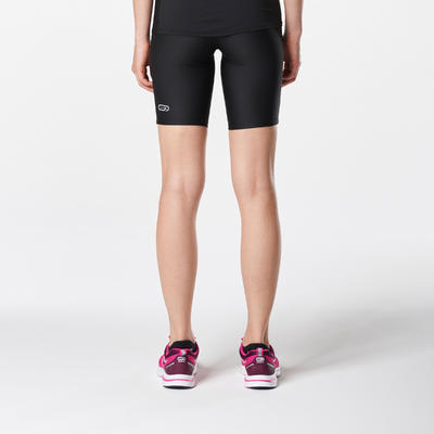 RUN DRY WOMEN'S TIGHT SHORTS - BLACK