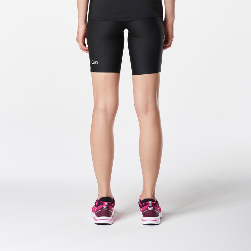 RUN DRY WOMEN'S TIGHT SHORTS - BLACK
