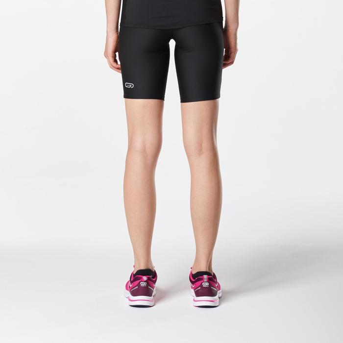 Mallas Cortas Shorts Deportivos Running Kalenji Run Dry Mujer Negro
