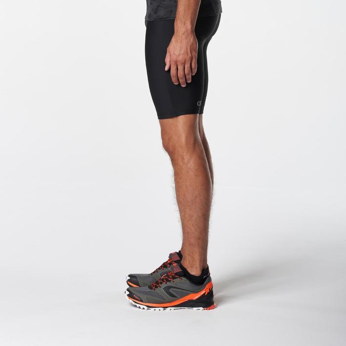 Cuissard trail running noir jaune homme - 1073016