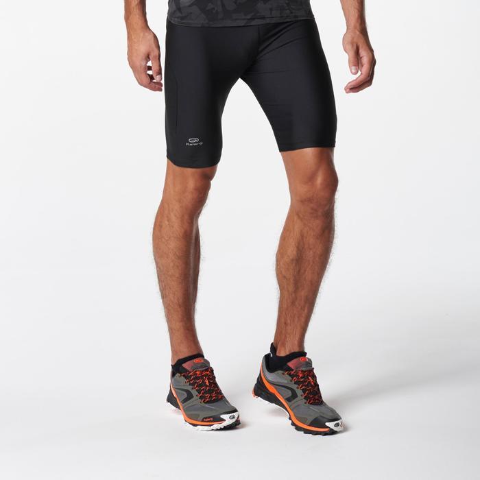 Cuissard trail running noir jaune homme - 1073018