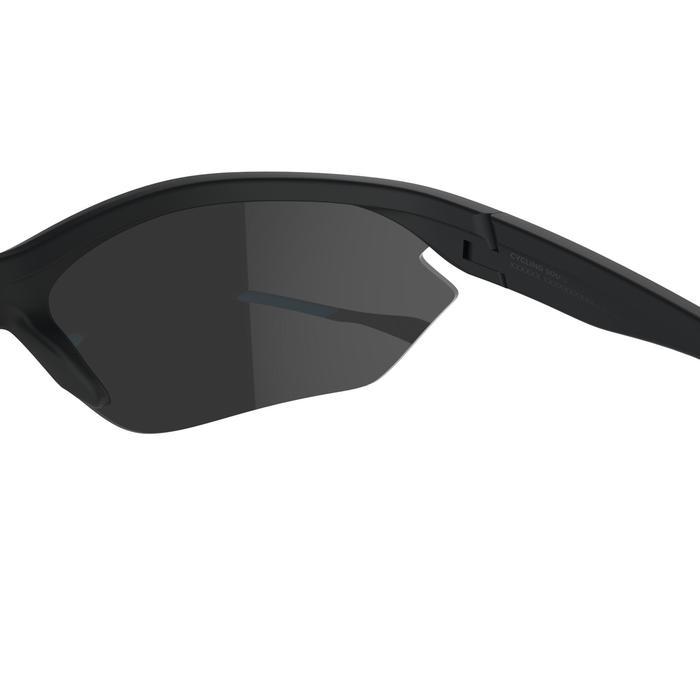 Fietsbril voor volwassenen Cycling 500 zwart en blauw categorie 3