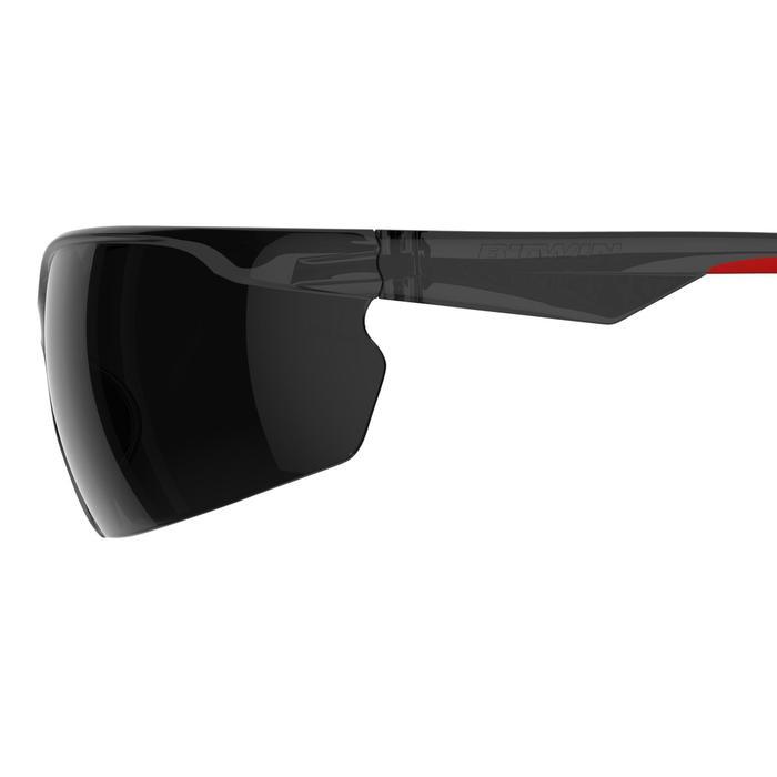 Zonnebril ST100 voor MTB, volwassenen, grijs en rood categorie 3