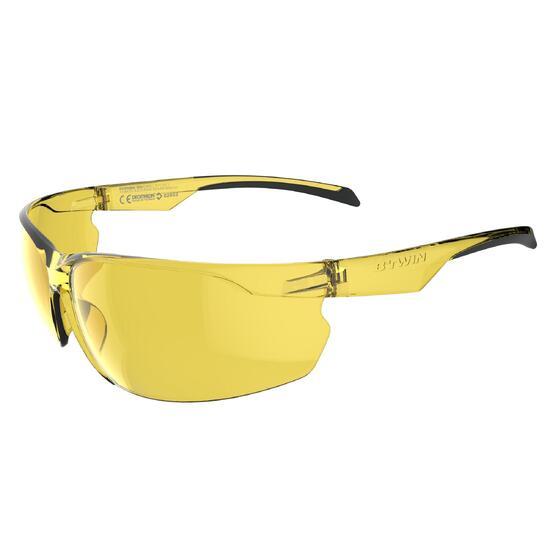 Fietsbril voor volwassenen Cycling 100 geel categorie 1 - 1073115