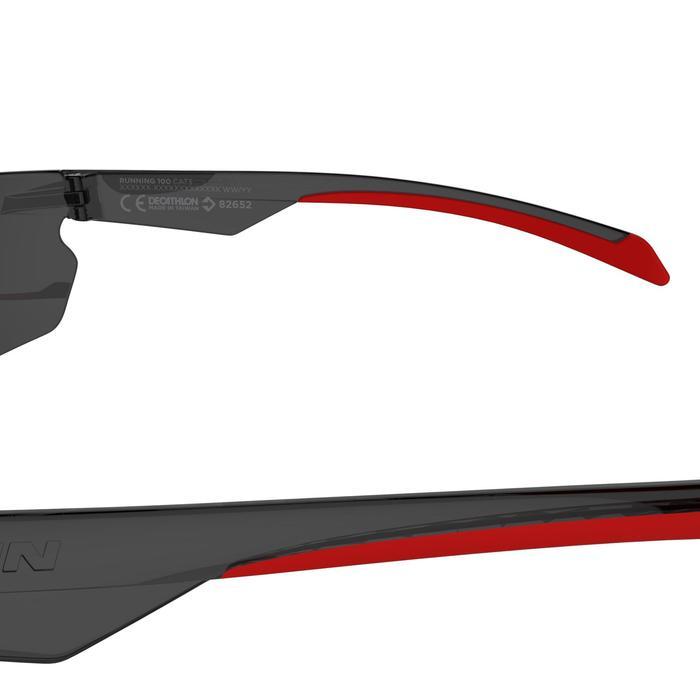Lunettes de VTT adulte ST 100 grises et rouges catégorie 3