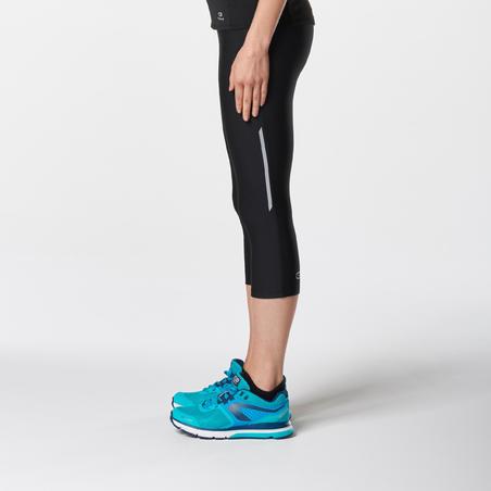 Legging capri pour la course à pied RunDry noir – Femmes