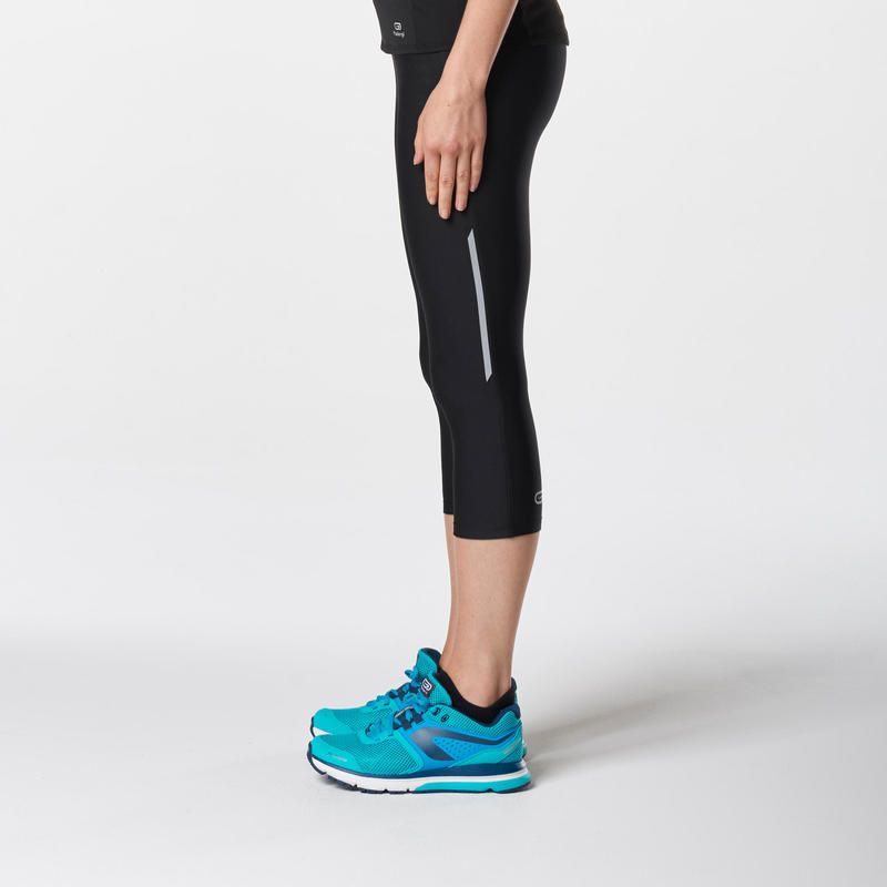 Run Dry Women's Running Cropped Bottoms - Black