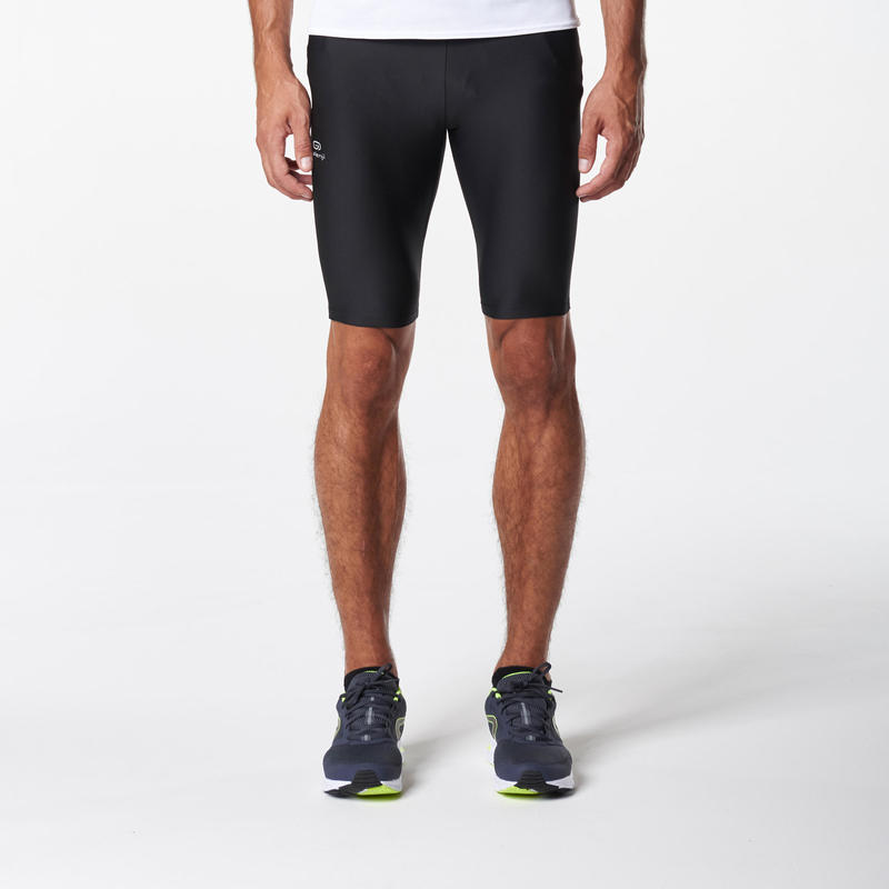 RUN DRY+ MEN'S RUNNING TIGHT SHORTS BLACK